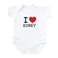 I love Korey Infant Bodysuit