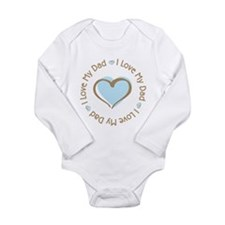 I Love my Dad Blue Heart Body Suit