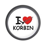 I love Korbin Wall Clock