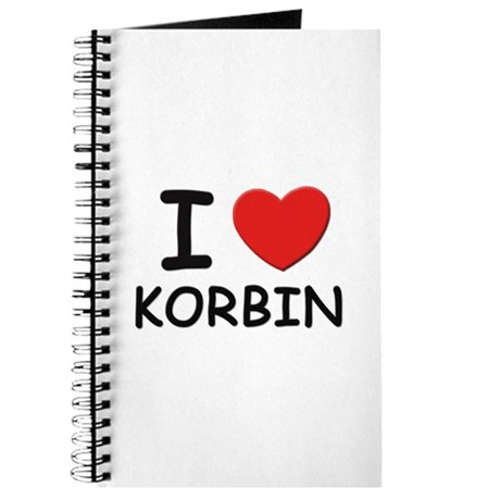 I love Korbin Journal