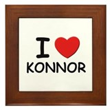 I love Konnor Framed Tile