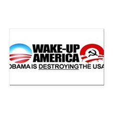 Cute Antiobama Rectangle Car Magnet