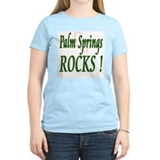 Palm Springs Rocks ! Women's Pink T-Shirt