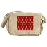 'Red Anchors' Messenger Bag