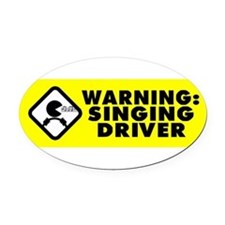 Cute Singing Oval Car Magnet
