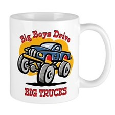 Monster Truck 4th Birthday Small Mug