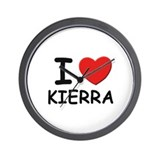 I love Kierra Wall Clock