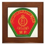Iraqi Military Police Framed Tile
