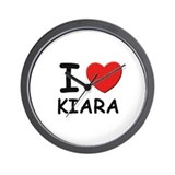 I love Kiara Wall Clock