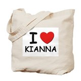 I love Kianna Tote Bag