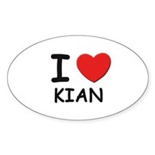 I love Kian Oval Decal