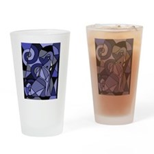 Elephant Abstract Art Drinking Glass