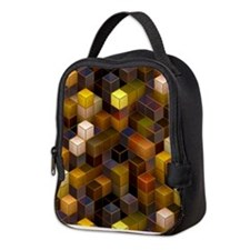 SteamCubism - Brass - Neoprene Lunch Bag