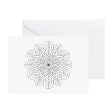 Sacred Mandala Coloring Card