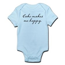 Cake makes me happy Infant Bodysuit
