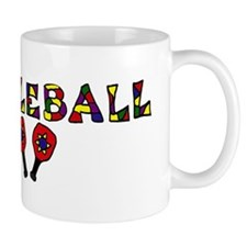 Colorful Pickleball Letters and Paddles Mug