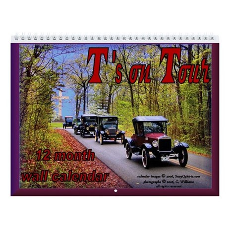 "Antique Car ""T's on Tour"" Wall Calendar"