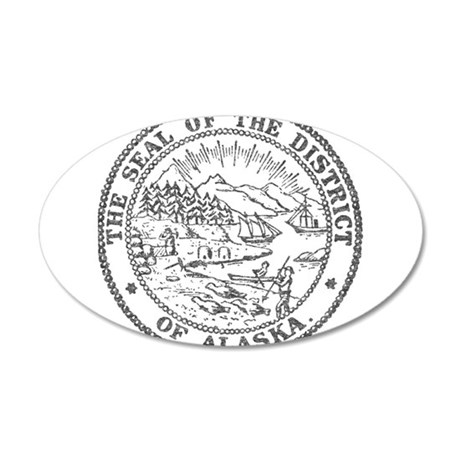 Vintage Alaska State Seal Wall Decal