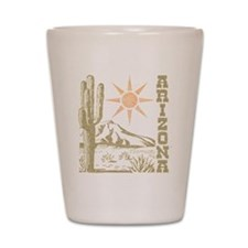 Vintage Arizona Cactus and Sun Shot Glass
