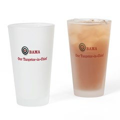 Targetor-in-Chief Drinking Glass