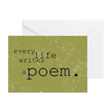 Every Life Writes a Poem Greeting Cards (Pk of 10)
