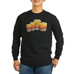 Movie Theater Popcorn Long Sleeve Black T-Shirt