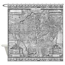 Paris Map 1652 Shower Curtain
