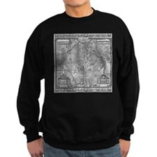 Paris Map 1652 Sweatshirt