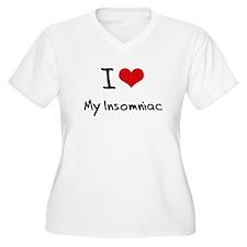 I Love My Insomniac Plus Size T-Shirt