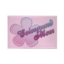 Colorguard Mom Flower Rectangle Magnet