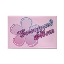 Colorguard Mom Flower Rectangle Magnet (10 pack)