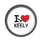 I love Keely Wall Clock