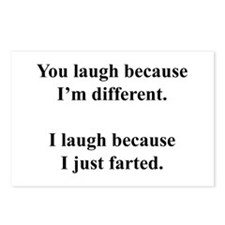 Funny Fart Postcards (Package of 8)