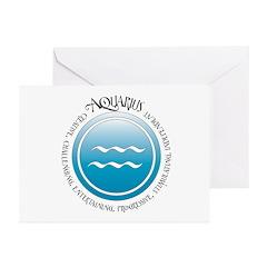 Aquarius Greeting Cards (Pk of 10)