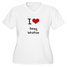 I Love Being Intuitive Plus Size T-Shirt