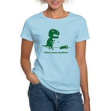 T-Rex Loves Cornhole T-Shirt