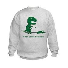 T-Rex Loves Cornhole Sweatshirt