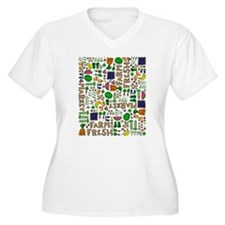 Farmers Market Medley Plus Size T-Shirt