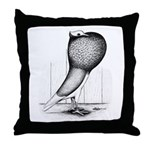 Thuringer Pouter Pigeon Throw Pillow