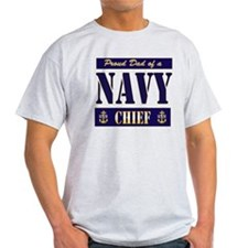 Chief's Dad Block Style T-Shirt