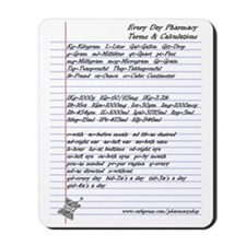 Pharmacy Terms & Calculations Mousepad