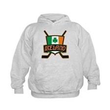 Ireland Irish Ice Hockey Shield Hoodie