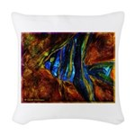 Angel Fish Woven Throw Pillow