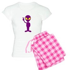 Purple Peace Alien Pajamas
