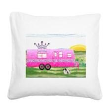 camper travel trailer camping queen Square Canvas