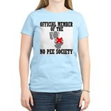 No Pee Society Women's Pink T-Shirt