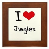 I Love Jingles Framed Tile