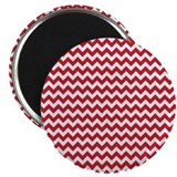 "Chevron Red 2.25"" Magnet (100 pack)"