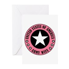 Army Wife Badge Greeting Cards (Pk of 10)