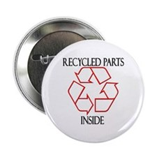 "Recycled Parts Inside 2.25"" Button (10 pack)"